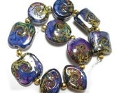 Spring Fling Sale Handmade Glass Lampwork  Beads,  Rakuli Mix Sampler