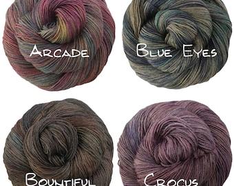 Handpainted Fingering Yarn -  Yakity Yak - 100 gm - 400 yards -  Superwash Merino Wool Yak Silk Sock Yarn - Choose Variegated Colorway