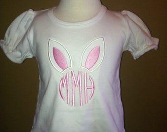 Easter Bunny Monogram Applique Shirt