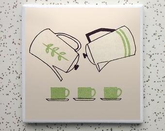 Coffee or Tea Tile Coaster
