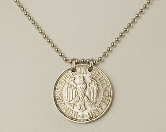 Germany Coin Jewelry Necklace 1950