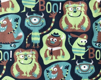 Weighted Blanket - Adult or Child - Cute Monsters on Navy - Choose your weight (up to 15 lbs) and minky color - custom