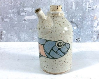 Abstract Fish Oil Bottle