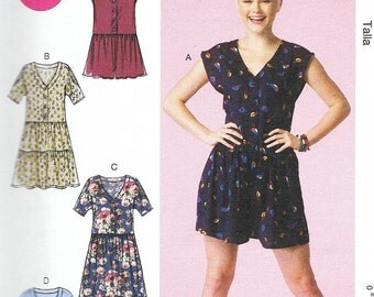 McCall's 7115 - Dropped Waist DRESS or ROMPER - Sewing Pattern - Sizes xsm - sml - med - UNCUT