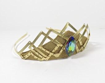 Aurora Borealis Gemstone Tiara - by Loschy Designs
