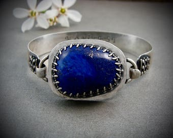 dreamer ... natural lapis and sterling bracelet