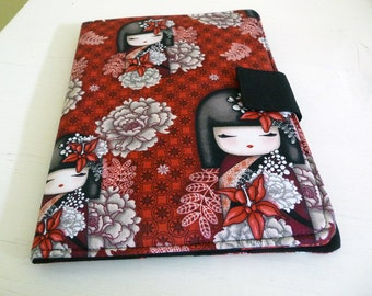 iPad Air 2 Cover, Soft Book Style iPad Air Case, Kokeshi Dolls