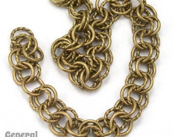 6.8mm Antique Brass Double Link Cable Chain #CC227