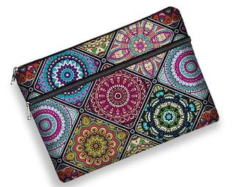 Laptop Sleeve 13 inch Laptop Bag, Macbook Pro 13 Case, Macbook Air Case, Samsung Notebook, HP Spectre & more, colorful Boho Mandala MTO