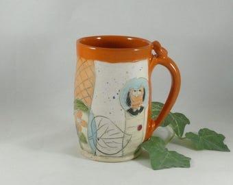 Handmade ceramic mug / big coffee cup, teacup, latte mug, pottery mug, ceramic cup pottery and ceramics,  740