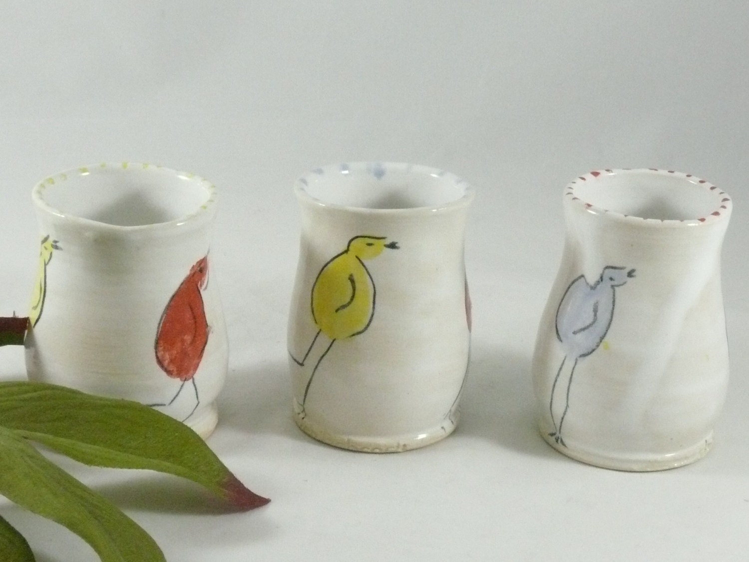 Small Ceramic Bud Vase Tiny Flower Vases Pencil Holder