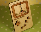 Laser Cut Wood Nintendo Game Boy desk clock