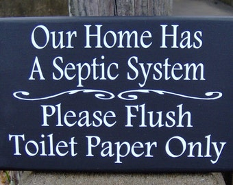 Bathroom Signs Toilet Paper Only please do not flush toilet paper only septic safe bathroom