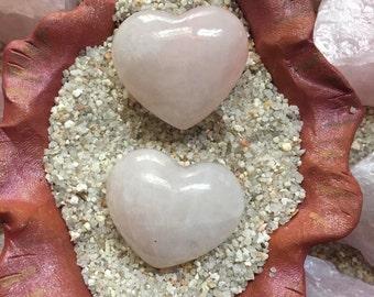 Rose Quartz Gemstone Heart Stone Palm Stone small anahata heart chakra love crystal