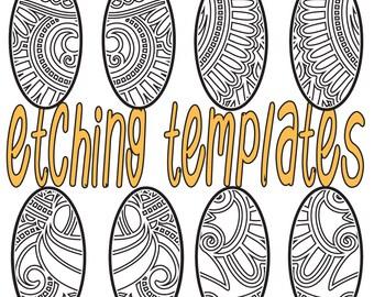 Digital Pattern for Etching Oval Earrings Download DP 4096-4