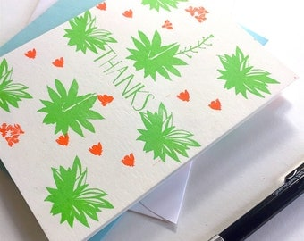A2 Agave Assorted  Notecard Set x 4 - Thank You