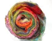 Carded Batt Merino Silk Sparkle Wild Art Batts 100g