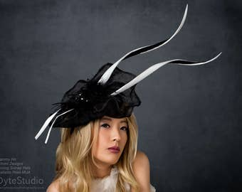 Avant Garde Black and White Hat Kentucky Derby Hat