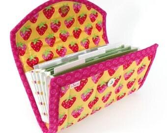COUPON / EXPENSE / RECEIPT Organizer - Strawberry - Coupon Organizer Coupon Holder Cash Budget Fruit Berries