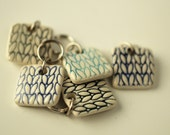 Stitchmarkers, Square Porcelain Cool colors