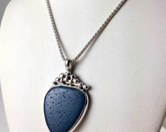 Leland Blue jewelry, Leland Blue necklace, Leland Blue, Leland Blue Pendant, Slag glass necklace , Stone jewelry, Michigan jewelry,