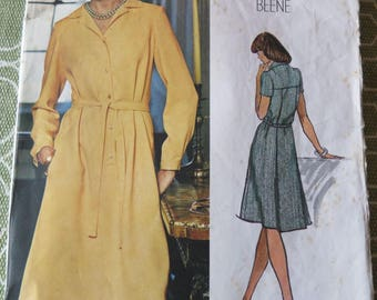 Vintage Vogue Americana 1098 Geoffrey Beene Misses' Dress Sewing Pattern sz 16 B 38 UNCUT