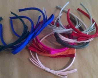 Silk Bow Bridal Headband in COLORS