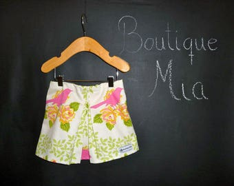 Sample SALE - Will fit Size 6-12 month to 12-24 month - Ready to MAIL - SKIRT - Birds - by Boutique Mia