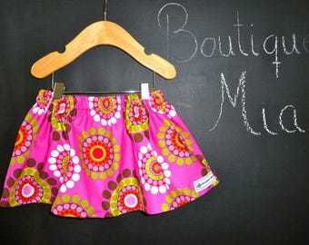 Sample SALE - Will fit Size 6-12 month to 2T  - Ready to MAIL - SKIRT - Mod Circles - by Boutique Mia