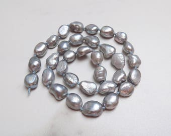 Silver Gray Baroque Freshwater Pearls