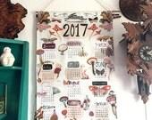 2017 Linen Cotton Tea Towel Calendar from my illustrations