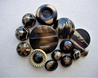 Neat Lot of Various Vintage Celluloid Buttons