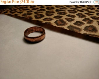 SALE TODAY 1960s Vintage Rustic Marked solid Copper Band Ring Size 7