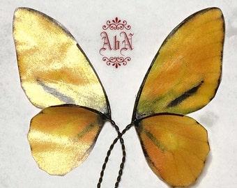 Fairy Wings -  Yellow Butterfly wings 597 -  For OOAK Art Dolls