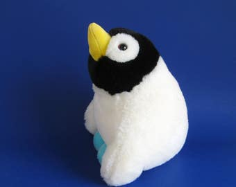 Vintage Penguin Stuffed Animal by KinderGund 1980s Toy 1989 Kids Toy Nursery Decor Arctic Bird Gund