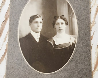 Vintage Photograph, Vintage Photo, Old Photo, Picture, Antique, Couple, Man and Woman, New York, Black and White, Portrait, Cabinet Card