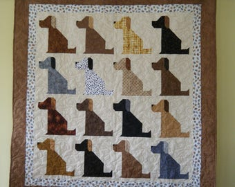 The Universal DOG Quilt -- 52 x 55