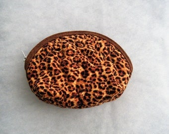 Small Quilted Purse - Leopard print