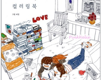 Puuung Grafolio Couple Love Story - Coloring Book