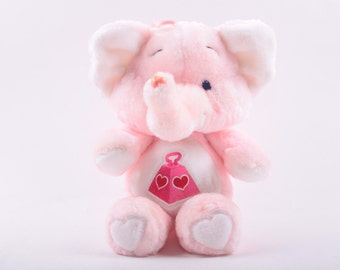 Lotsa Heart Elephant, Care Bear Cousins, Plush, Pink, Elephant, Tag ~ The Pink Room ~ CC006