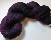 Sale 15 Percent Off -- Hand Dyed Superwash Merino DK -- Crushed BlackBerry (Ex-Lg 120gram/282yds skein)