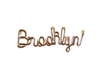 Rose Gold Plated Brooklyn Wire Name Pendant (2X) (K615-D)