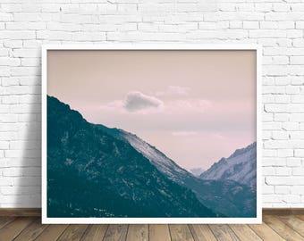 "large colorful landscape photography, large landscape wall art, mountain landscape, large photography art prints, art - ""Across the Valleys"""