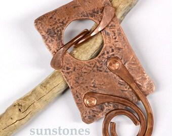 Handmade Rustic Copper Toggle Clasp TC611