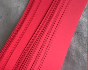 Origami Star Paper~  Bright Light Red (50 strips)