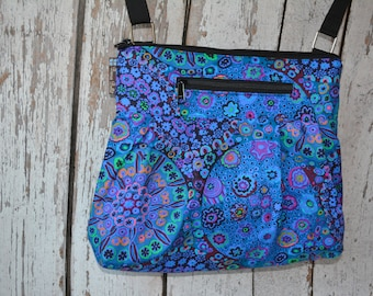Tablet Pocket Crossbody Purse - iPad Pocket Cross Body Bag Cross body Purse Shoulder Purse - Small Medium Large HOBO BAG Murano Glass Fabric