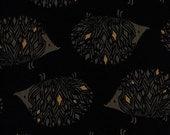 Cotton + Steel Sleep Tight canvas - prickles - black, metallic gold - 50cm - PRE-ORDER
