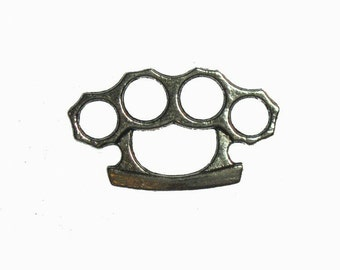 12 x Knuckle Duster Charms Connectors