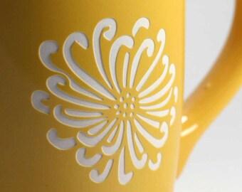 Flower Mug - chrysanthemum coffee cup - Choose Your Color