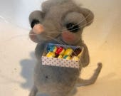 Look what I got Greta the grey rat  Ooak art doll